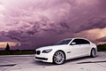 Picture the sky, clouds, BMW, white, 750Li