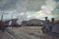 Picture The railway Station at Argenteuil, the urban landscape, picture, Claude Monet