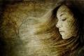 Picture girl, portrait, texture