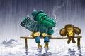 Picture 158, sadness, cartoon, crocodile Gena, Cheburashka
