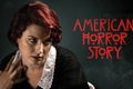 Picture spirit, redhead, series, season 1, American Horror Story, season one, woman, girl, photographer, actress, hand, ...