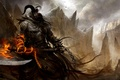 Picture weapons, rocks, flame, the demon, chain, horns, gorge, Guild Wars