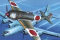 "Picture the sky, figure, fighter, art, bombers, aircraft, Japanese, WW2, American, strategic, Tachikawa Ki-106, ""Boeing"" В-29 ..."