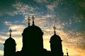 Picture clouds, the sky, The monastery, Church