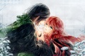 Picture two, art, guy, anime, harry potter, severus snape, lily evans, girl, meiriel, tears