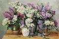 Picture picture, art, vase, lilac, Vjeteslav Kliuchnikov