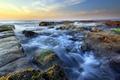 Picture sea, landscape, stones