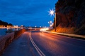 Picture lights, the sky, Road, markup, trail, lights