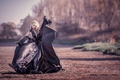 Picture The dress of garbage bags, film, girl, dress