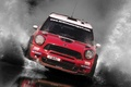 Picture Squirt, Water, Red, The front, Rally, grille, Car, Mini Cooper, Race, Mini Cooper, Machine, Lights, ...