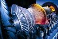 Picture turbine, details, impeller, engine