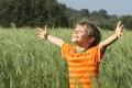 Picture joy, mood, boy, nature