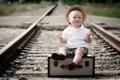 Picture mood, boy, railroad