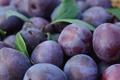 Picture blue, basket, plum