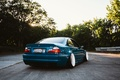 Picture the sun, trees, blue, BMW, wheel, back