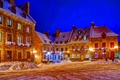 Picture lights, street, snow, Winter, home, the sky