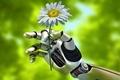 Picture summer, macro, nature, mechanism, robot, hand, blur, robot, Android, gesture, android, keeps, hi-tech, bokeh, wallpaper., ...