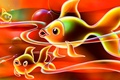Picture line, abstraction, color, aquarium, fish, fish