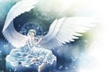 Picture magic, lies, wings, angel, braids, white, petals, circles, Angel
