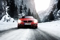 Picture snow, mountains, winter, speed, road, BMW