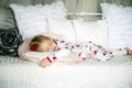 Picture kids, children, widescreen, relaxation, bed, Wallpaper, HD wallpapers, girl, child, sleeping, full screen, background, rosette, ...