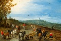 Picture picture, Jan Brueghel the elder, Panoramic Landscape with Travellers