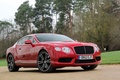 Picture red, red, trees, Bentley, tree, Bentley, grass, continental, grass