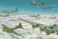 Picture Mustang, Boeing, Art, P-51, North American, B-17, Heavy, First, Flying fortress, Flying Fortress, Serial, American ...
