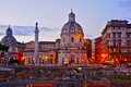 Picture the sky, Italy, Church, Rome, column, sunset
