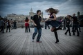 Picture pair, dancing, Moscow, the city