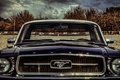 Picture cloud, ford, old, mustang, face, classiccar, eye, classic, front, light, car, portrait, american, sky