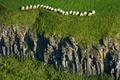 Picture Auvergne, Murol, rocks, straw, France