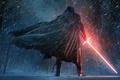 Picture Star Wars, Dark, Fantasy, Wood, Winter, Black, Warrior, Snow, Laser, The, Wallpaper, Smoke, Jedi, Force, ...