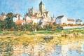 Picture landscape, picture, Claude Monet, Vétheuil. Church
