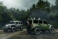 Picture Cars, Green, Black, Rain, Wrangler, Jeep, Off Road