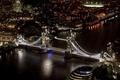 Picture night, the city, river, England, London, home, skyscrapers, lighting, UK, Thames, Tower bridge, Tower Bridge, ...