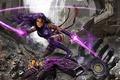 Picture yuusha, X-Men, uniform, human, mecha, sword, girl, woman, Psylocke, movie, Lady Mandarin debris bike, Captain ...