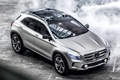 Picture Mercedes, Mercedes-Benz, Concept, auto, GLA, lights, silver