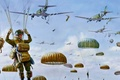 Picture Market Garden, skydivers, art, 1944, figure, Dutch operation, land in Holland, the military operation of ...