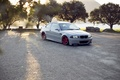 Picture red, red, drives, white, trees, bmw, BMW, white, wheels, e46