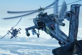 Picture shock, earth, helicopters, mountains, snow, Boeing, Apache, AH-64D, combat, Longbow, the sky, helicopters