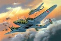 Picture the plane, art, pawn, USSR, bomber, the, BBC, WWII, the bombing, frontline, PE-2, Soviet, WW2., ...