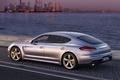 Picture sea, the evening, Turbo, Porsche, auto, Porsche, Panamera