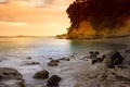 Picture beach, sunset, New Zealand, Auckland