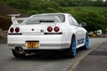 Picture White, Nissan, Nissan, Car, Car, Blue, White, Skyline, Tuning, Skyline, Wheels, R33