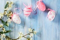 Picture flowers, wall, holiday, eggs, branch, Easter, eggs