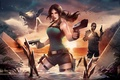 Picture shorts, water, guns, girl, lara croft, tomb raider