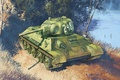 Picture WW2., art, the mold, arr., 1942., tank, T-34-76, WWII, thirty-four, USSR