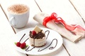 Picture foam, napkin, cake, dessert, Malinka, coffee, mint