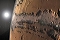 Picture a system of canyons, Valles Marineris, surface, Mars